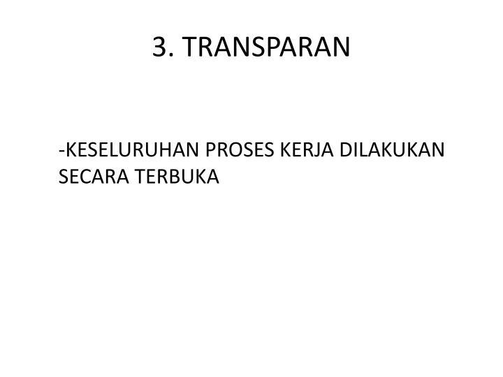3. TRANSPARAN