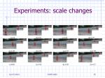 experiments scale changes