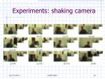 experiments shaking camera