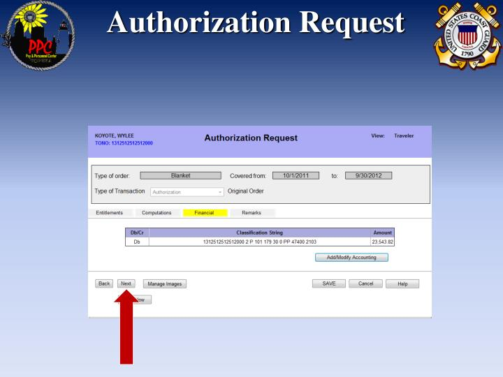 Authorization Request