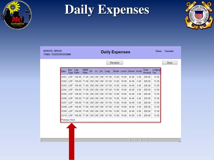 Daily Expenses