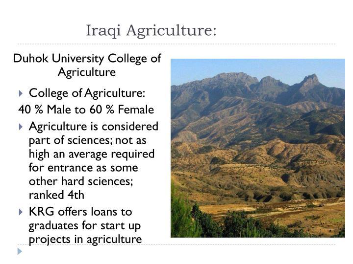 Iraqi Agriculture: