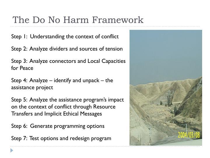 The Do No Harm Framework