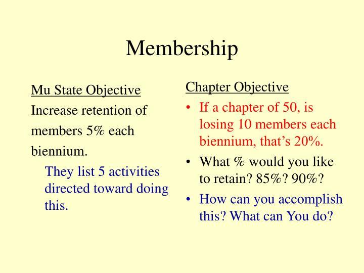 Mu State Objective