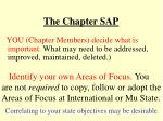 the chapter sap