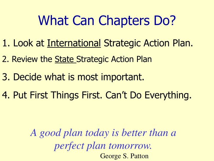 What Can Chapters Do?