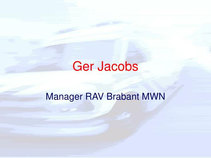 Ger Jacobs