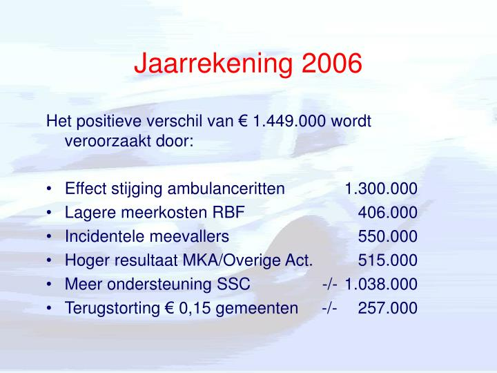 Jaarrekening 2006