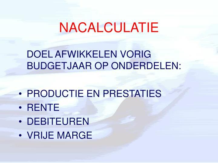 NACALCULATIE