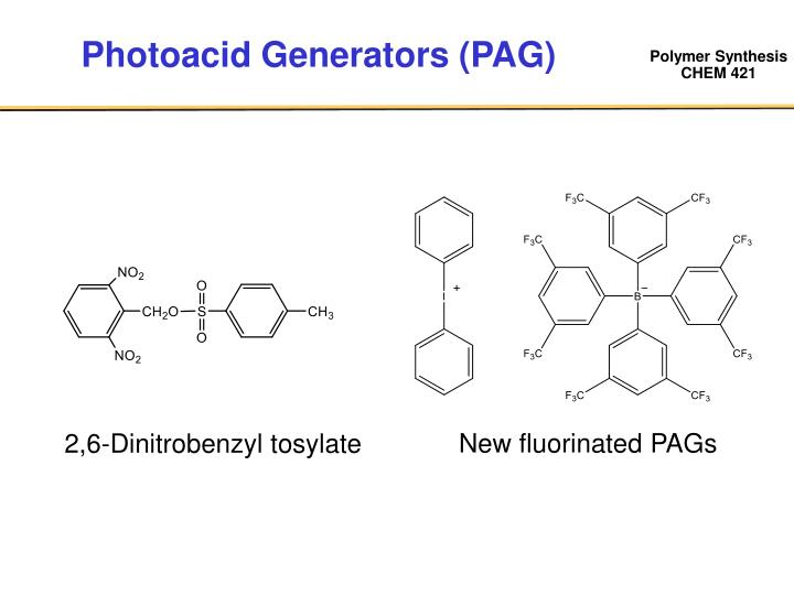 Photoacid Generators (PAG)