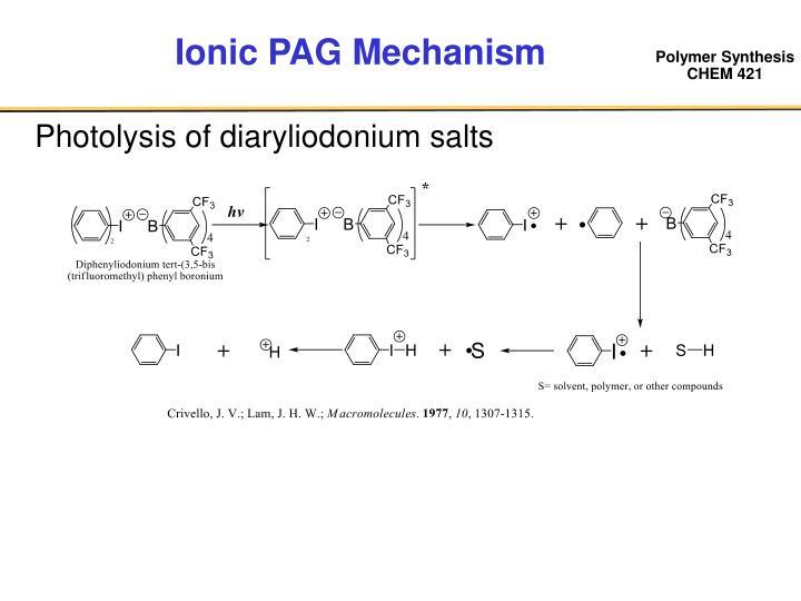 Ionic PAG Mechanism