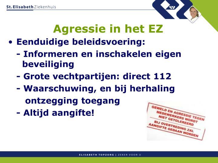 Agressie in het EZ