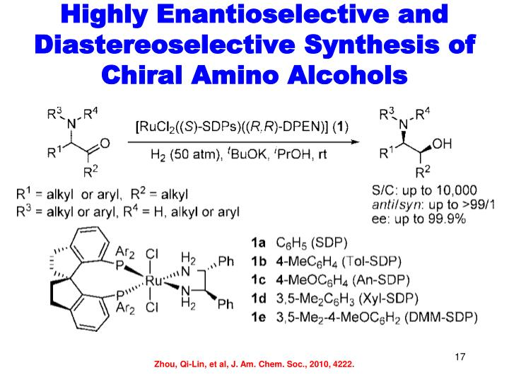 Highly Enantioselective and Diastereoselective Synthesis of Chiral Amino Alcohols