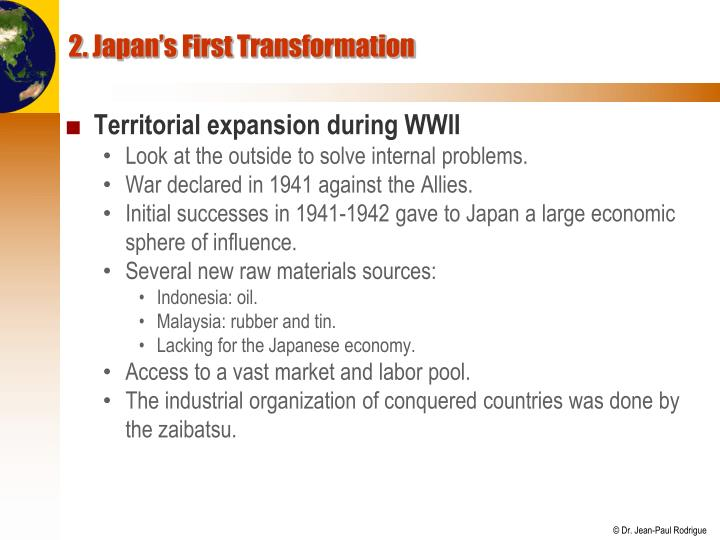 2. Japan's First Transformation