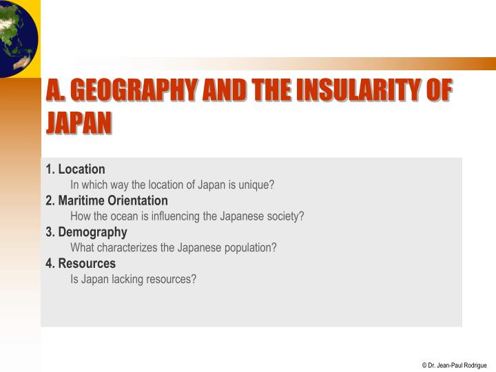 A geography and the insularity of japan