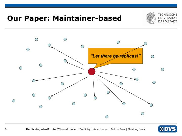 Our Paper: Maintainer-based