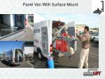 panel van with surface mount
