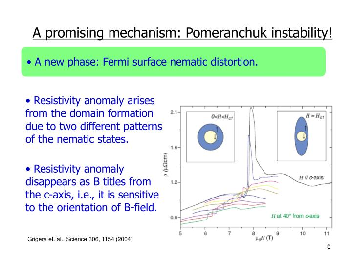 A promising mechanism: Pomeranchuk instability!