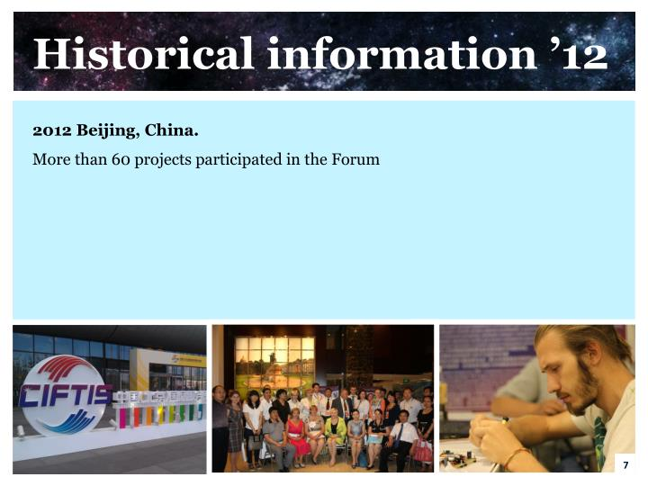 Historical information '12