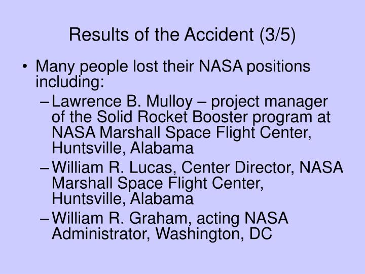Results of the Accident (3/5)