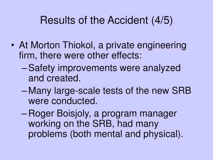 Results of the Accident (4/5)