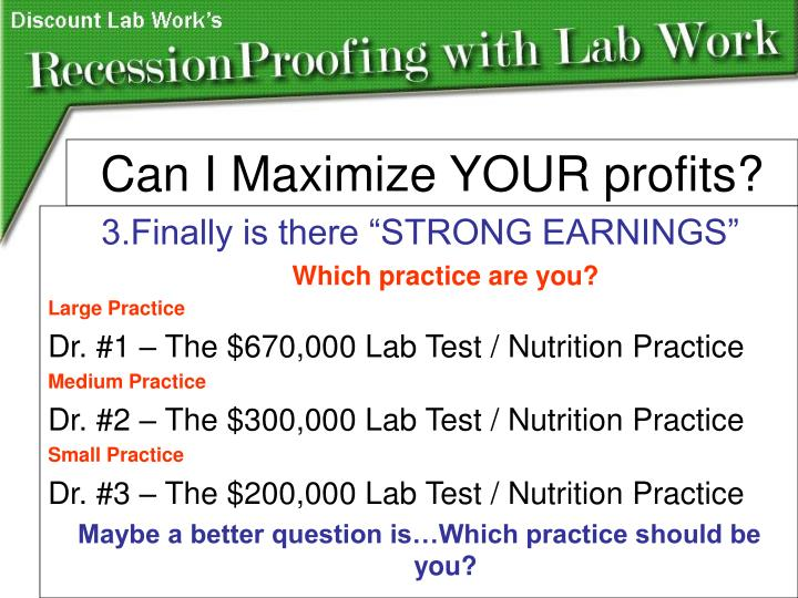 """3.Finally is there """"STRONG EARNINGS"""""""