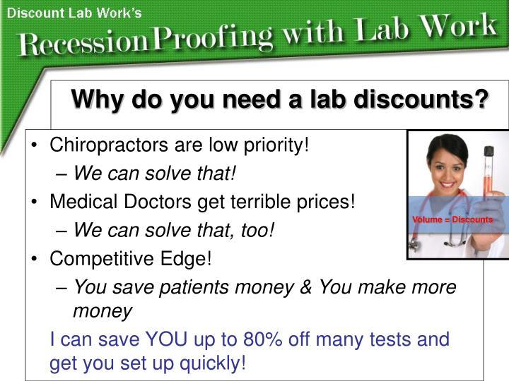 Chiropractors are low priority!