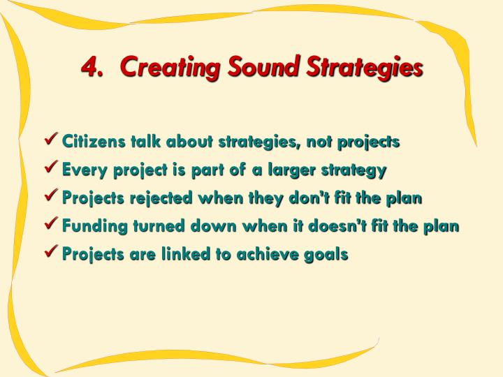 4.  Creating Sound Strategies