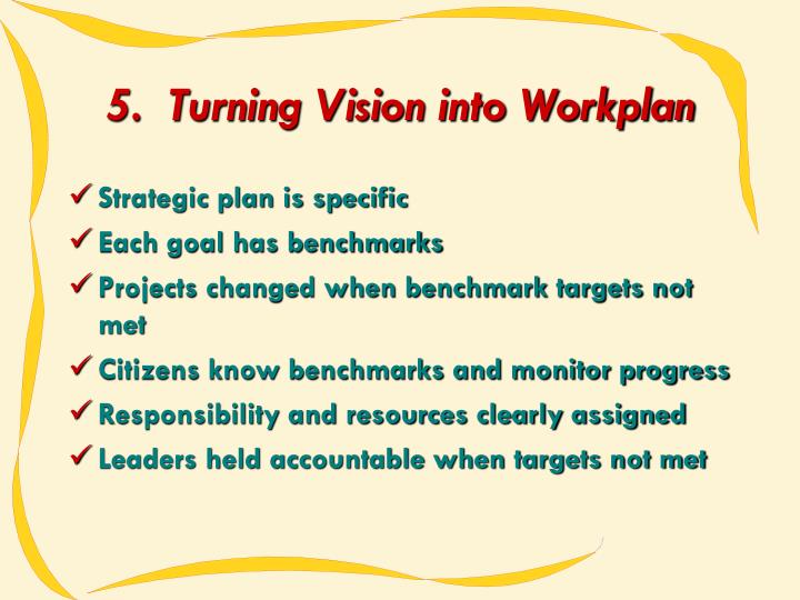5.  Turning Vision into Workplan