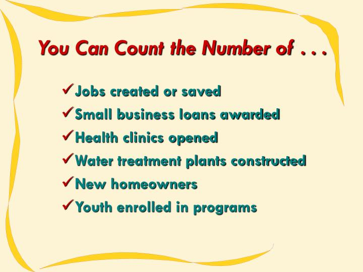 You Can Count the Number of . . .