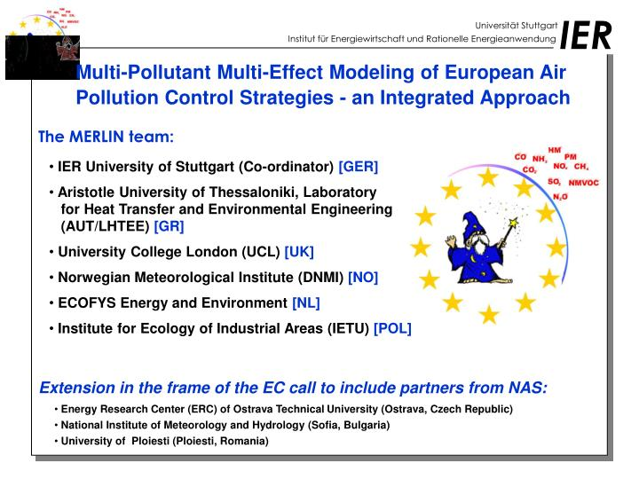 Multi-Pollutant Multi-Effect Modeling of European Air Pollution Control Strategies - an Integrated Approach