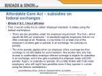affordable care act subsidies on federal exchanges4