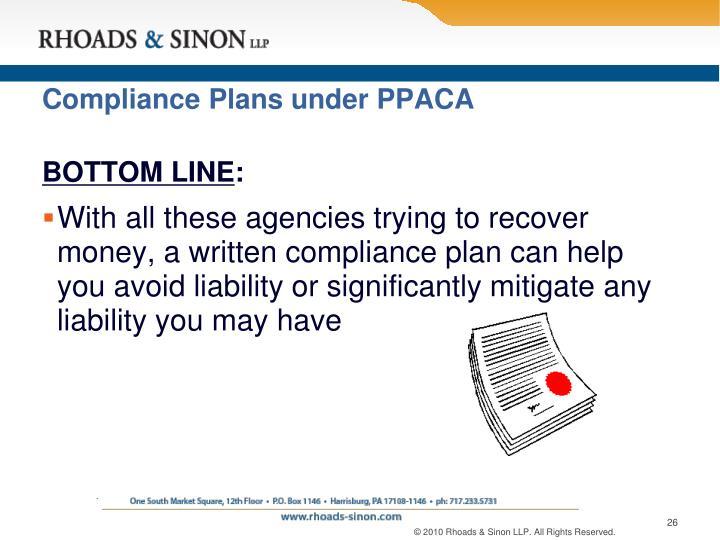 Compliance Plans under PPACA