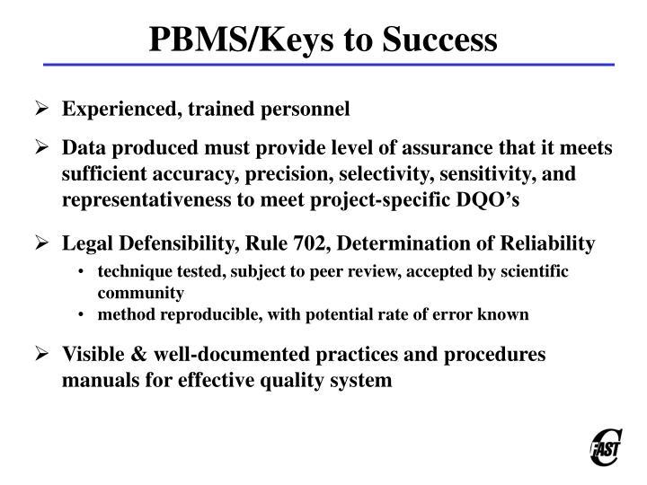 PBMS/Keys to Success
