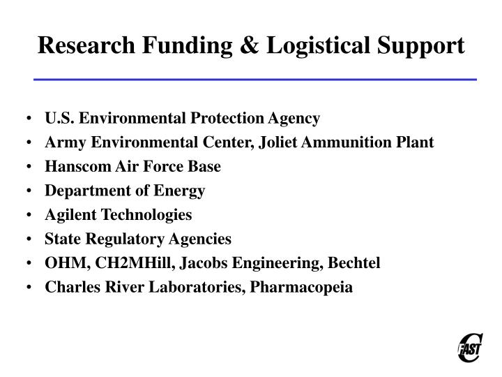 Research Funding & Logistical Support