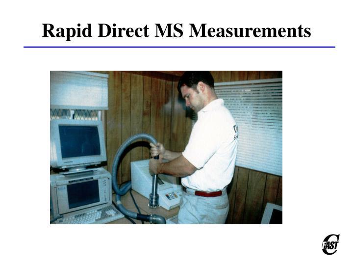 Rapid Direct MS Measurements