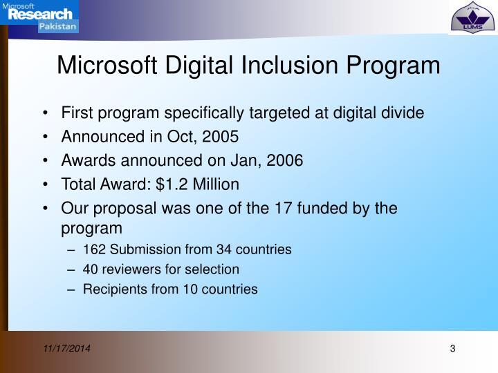 Microsoft Digital Inclusion Program