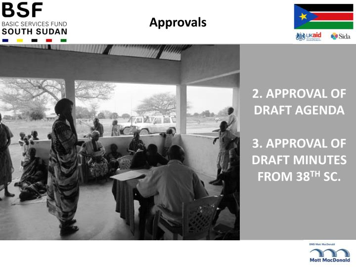 2 approval of draft agenda 3 approval of draft minutes from 38 th sc