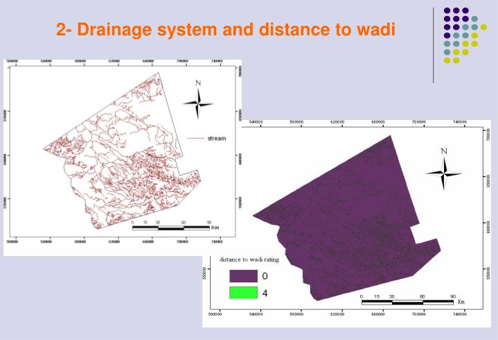 2- Drainage system and distance to wadi