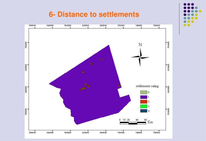 6- Distance to settlements