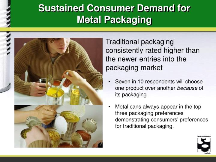 Sustained Consumer Demand for Metal Packaging