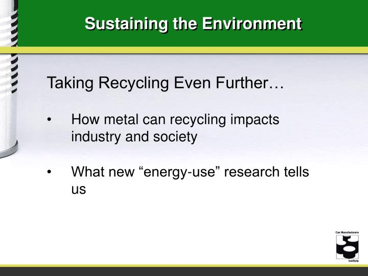 Sustaining the Environment