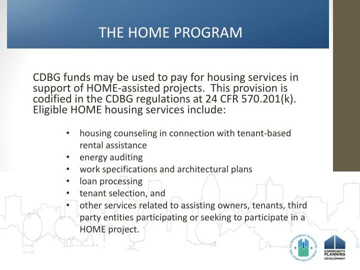 THE HOME PROGRAM