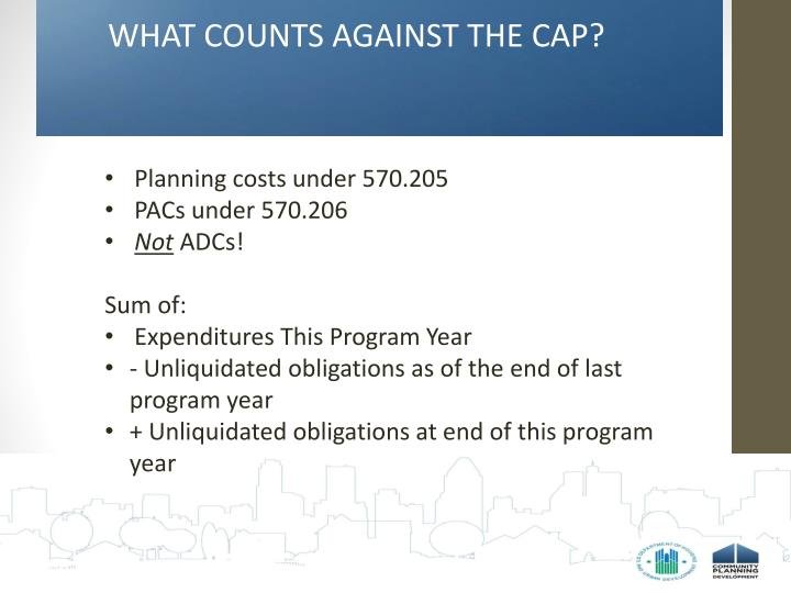 WHAT COUNTS AGAINST THE CAP?