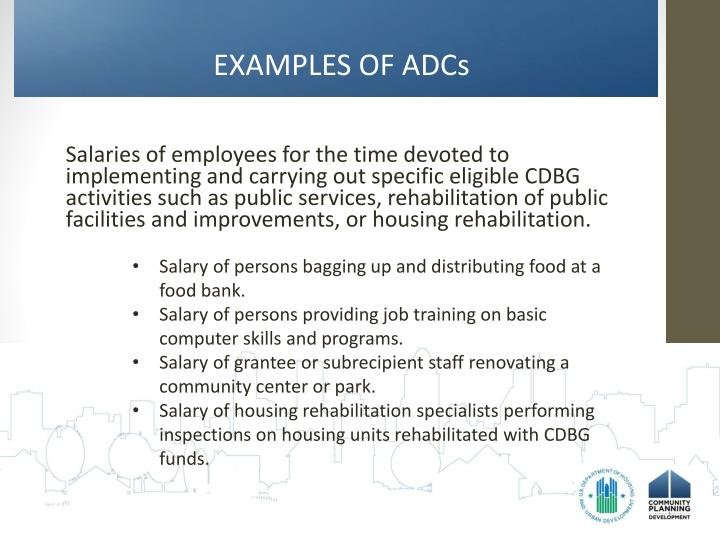 EXAMPLES OF ADCs