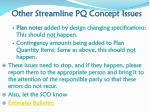 other streamline pq concept issues