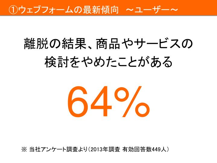①ウェブフォームの最新傾向 ~ユーザー~