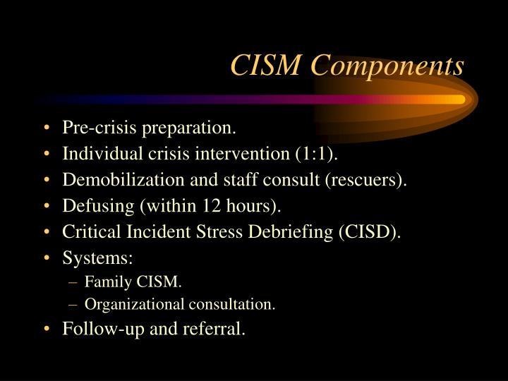 CISM Components
