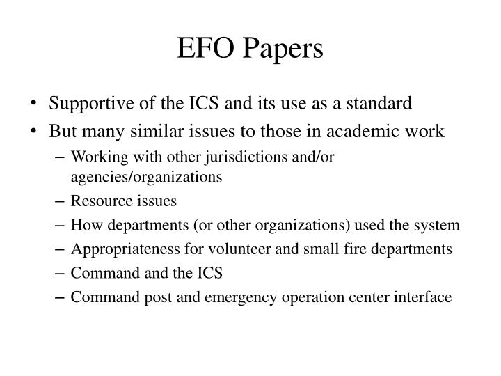 EFO Papers