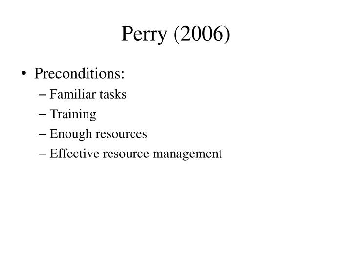 Perry (2006)